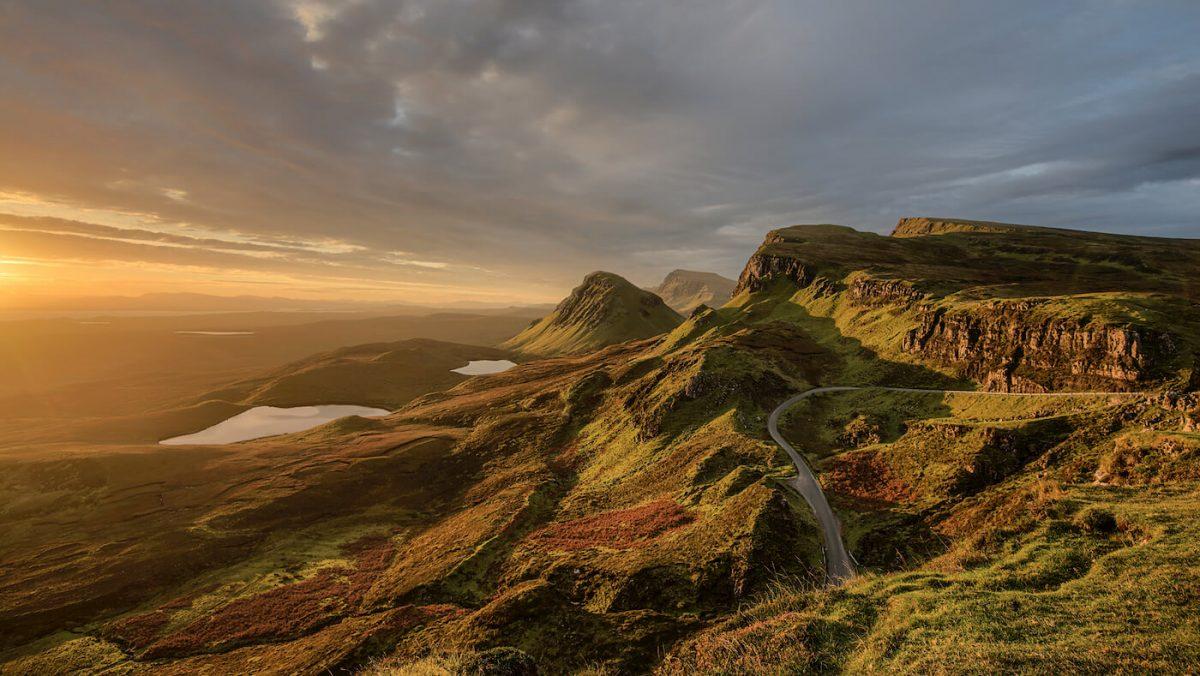 Skye Island sunset in Scotland